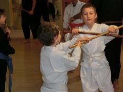 den Kindern machte das Training mit dem Stock viel Spaß