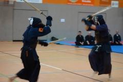 Eine glanzvolle Kendo-Demonstration zeigten Trainer der Kendo-Abteilung des Polizeisportvereins Cottbus, Abteilung Kampfkünste unter der Leitung von Raimo Ermler.