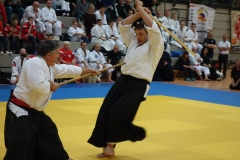 Ralf Oschmann demonstriert meisterhafte Waffenkunst des Aikido.