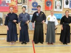 Teilnehmer des Iaido Trainings mit den Lehrern Christine Rauscher und Gunnar Ehrhardt