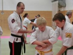 Tobias Kompalla beim Jugendtraining